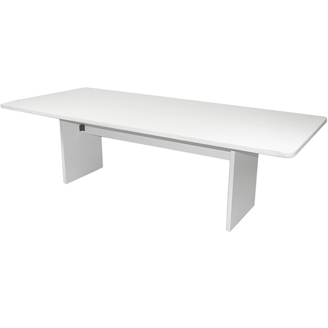CF Rectangular Conference Table X White - Large white conference table