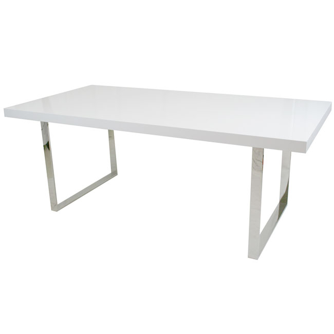 CF Glacier Conference Table X White - Large white conference table